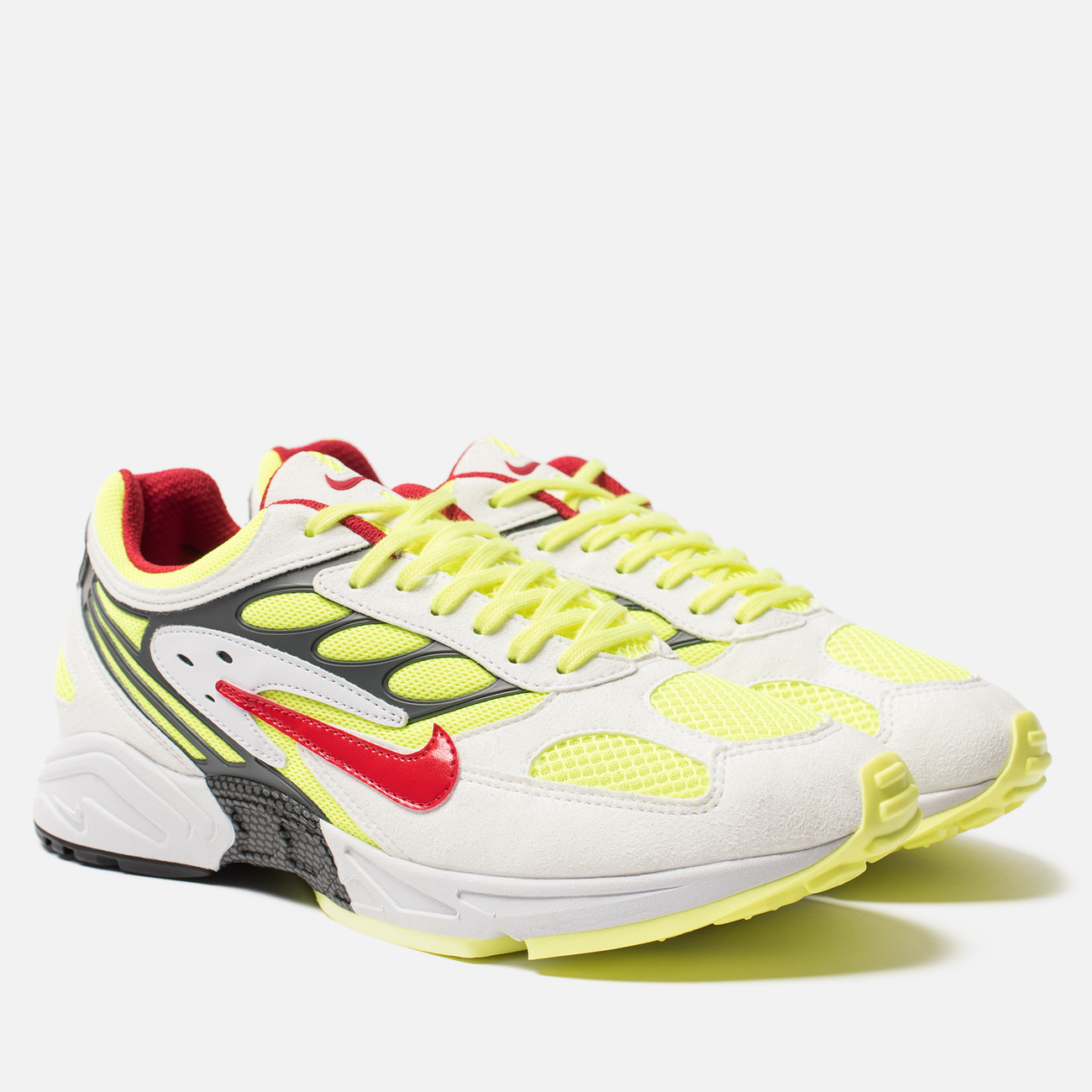 Кроссовки Nike Air Ghost Racer White/Atom Red/Neon Yellow/Dark Grey