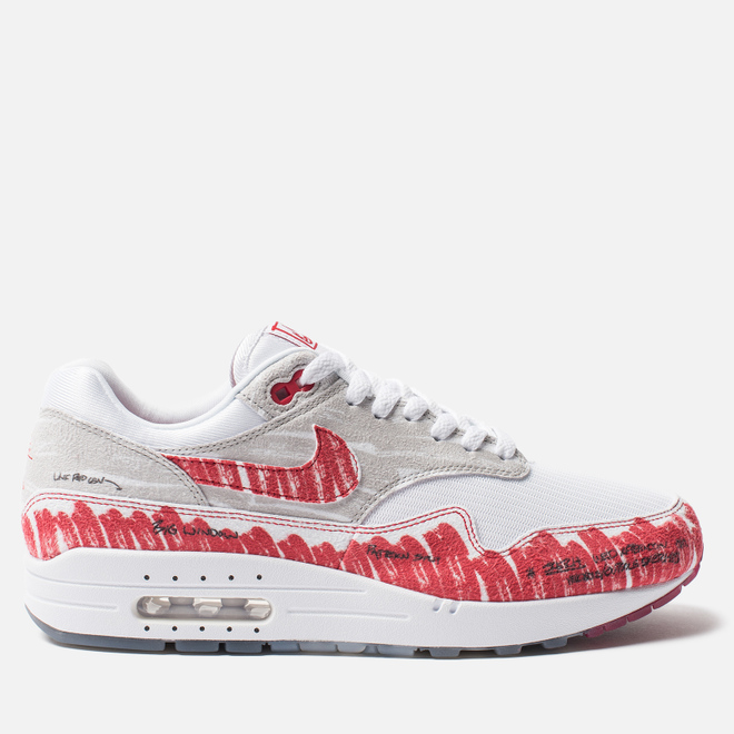 Кроссовки Nike Air Max 1 Tinker Sketch White/University Red/Neutral Grey