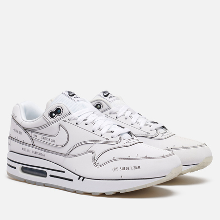 Кроссовки Nike Air Max 1 Tinker Sketch White/White/Black