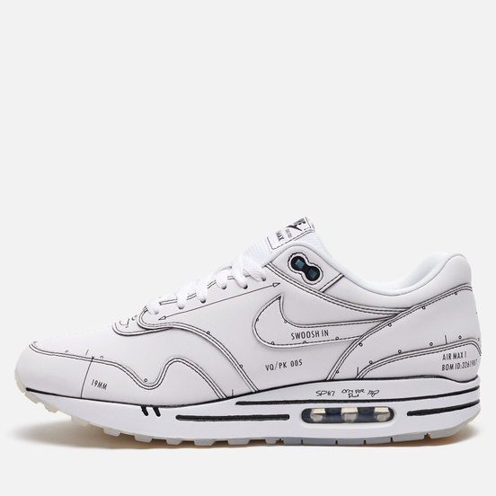 Мужские кроссовки Nike Air Max 1 Tinker Sketch White/White/Black
