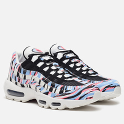 Мужские кроссовки Nike Air Max 95 Country Pack Korea Summit White/Black/Royal Tint/Racer Pink