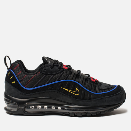 Кроссовки Nike Air Max 98 Black/Black/Amarillo/University Red