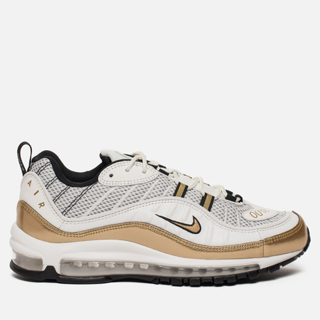 Кроссовки Nike Air Max 98 UK GMT Pack White/Metallic Gold/Black