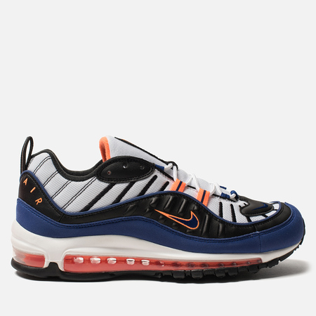 Кроссовки Nike Air Max 98 White/Deep Royal Blue/Total Orange/Black