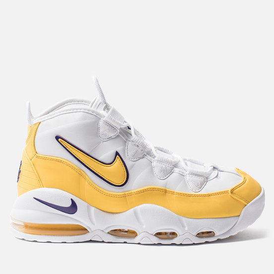 Кроссовки Nike Air Max Uptempo 95 Lakers White/Amarillo/Court Purple