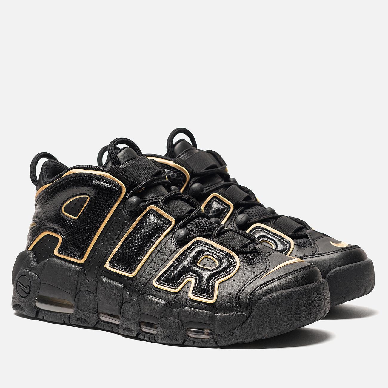 Кроссовки Nike Air More Uptempo '96 France QS IP Black/Metallic Gold