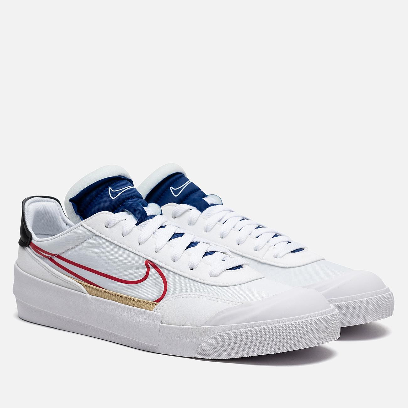 Кроссовки Nike Drop Type HBR White/University Red/Deep Royal Blue