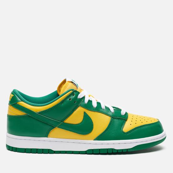 Мужские кроссовки Nike Dunk Low SP Brazil Varsity Maize/Pine Green/White