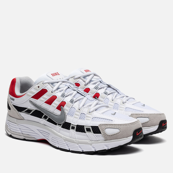 Кроссовки Nike P-6000 White/Particle Grey/University Red