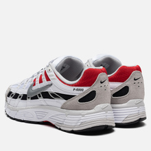 Кроссовки Nike P-6000 White/Particle Grey/University Red фото- 2