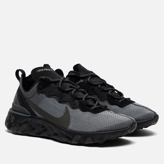 Кроссовки Nike React Element 55 Black/Sequoia/Medium Olive