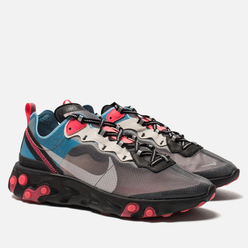 Кроссовки Nike React Element 87 Black/Cool Grey/Blue Chill/Solar Red