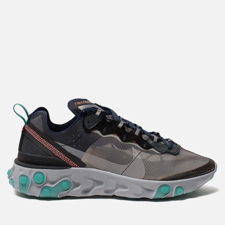 Кроссовки Nike React Element 87 Black/Neptune Green/Bright Mango/Midnight Navy