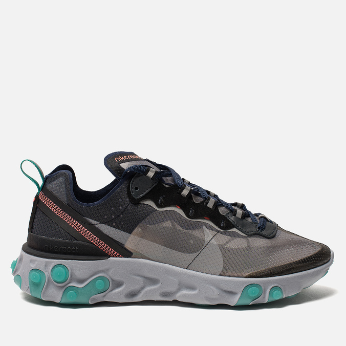 Кроссовки Nike React Element 87 Black Neptune Green Bright Mango Midnight  Navy ... 1d4899f823b