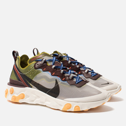 Кроссовки Nike React Element 87 Moss/Black/El Dorado/Deep Royal Blue