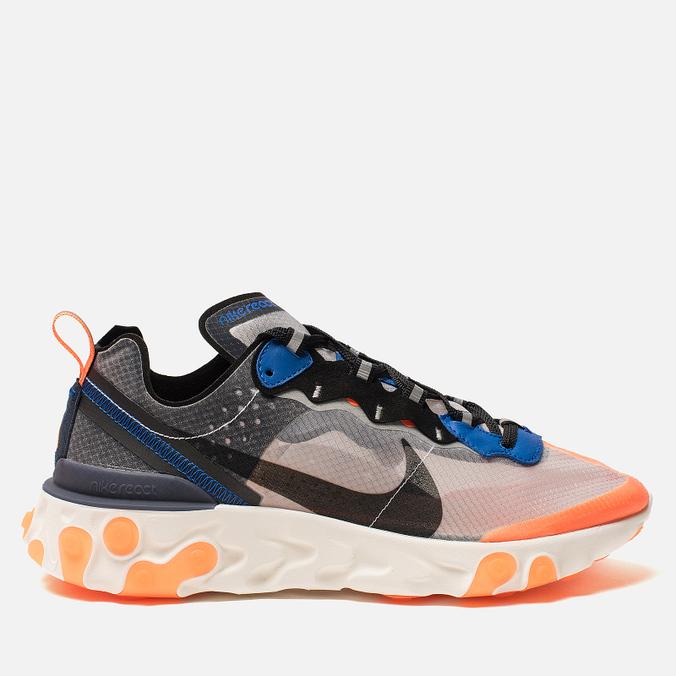Кроссовки Nike React Element 87 Wolf Grey/Black/Thunder Blue