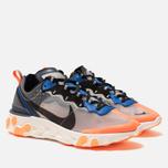 Кроссовки Nike React Element 87 Wolf Grey/Black/Thunder Blue фото- 2
