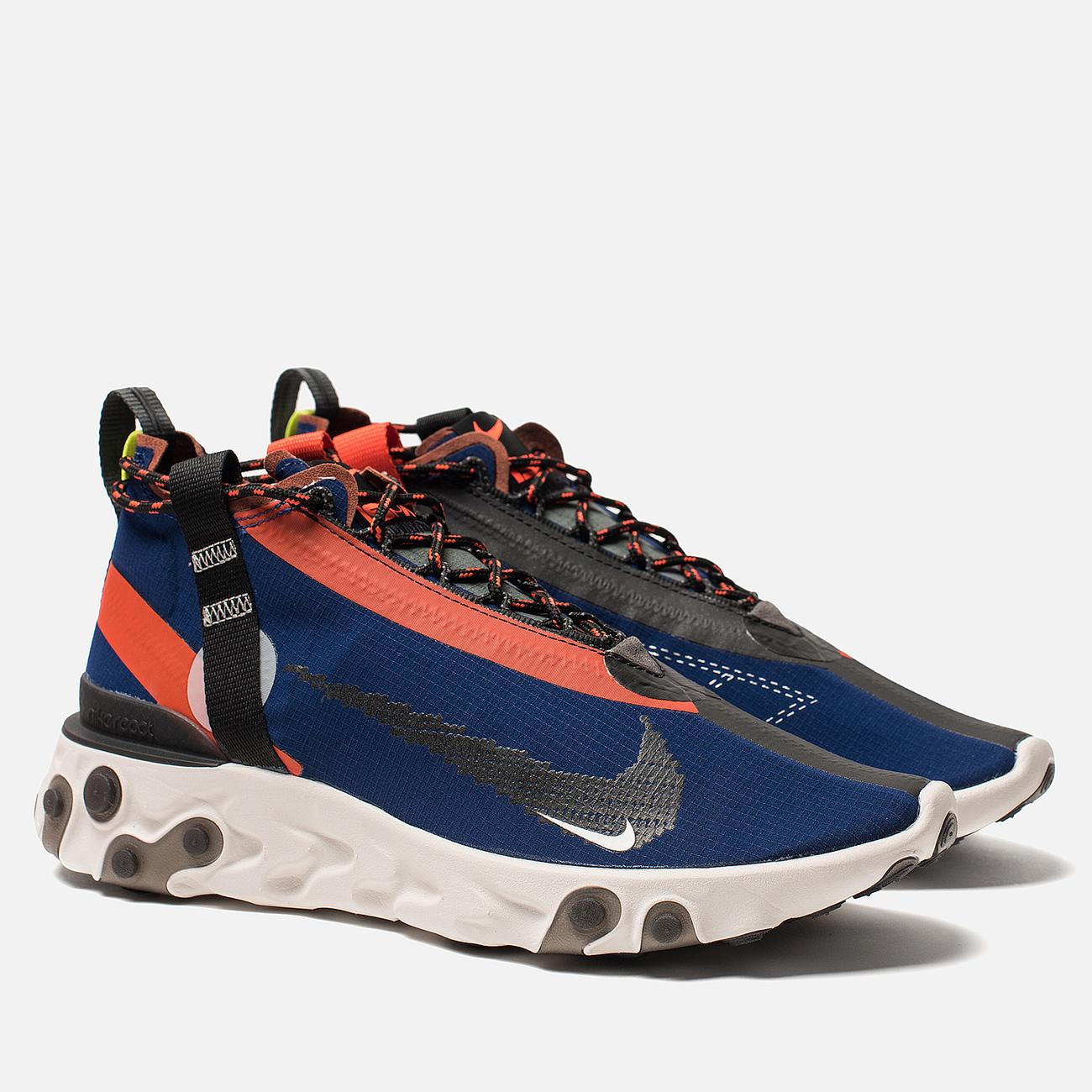 Кроссовки Nike React Mid WR ISPA Blue Void/Black/Team Orange/Phantom