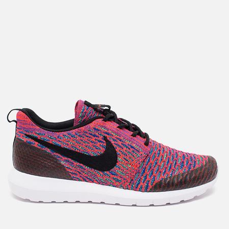 Мужские кроссовки Nike Roshe NM Flyknit SE Bright Crimson/Green Streak/Game Royal Blue