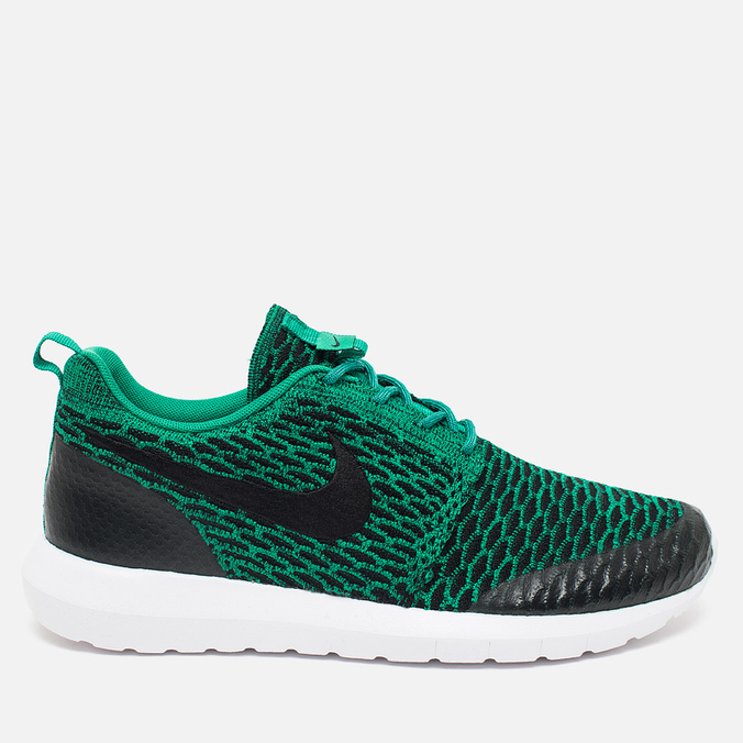 Мужские кроссовки Nike Roshe NM Flyknit SE Lucid Green/Black/White
