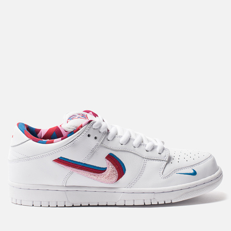 Кроссовки Nike SB x Parra Dunk Low OG QS White/Pink Rise/Gym Red/Military Blue