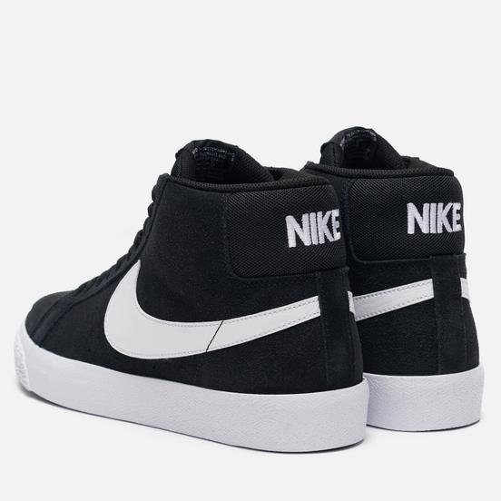 Мужские кроссовки Nike SB Zoom Blazer Mid Black/White/White/White