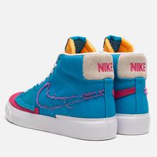 Кроссовки Nike SB Zoom Blazer Mid Edge Laser Blue/Watermelon/University Gold фото- 2