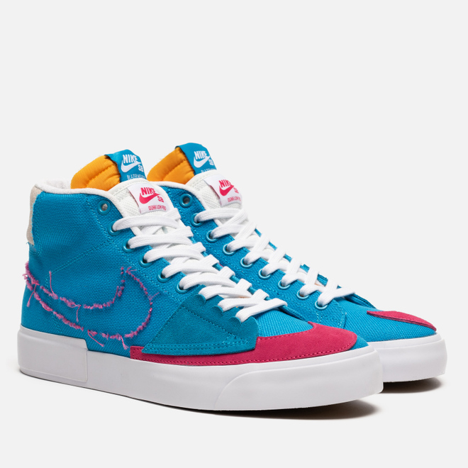 Кроссовки Nike SB Zoom Blazer Mid Edge Laser Blue/Watermelon/University Gold
