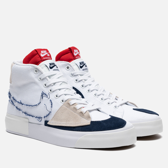 Кроссовки Nike SB Zoom Blazer Mid Edge White/Midnight Navy/University Red