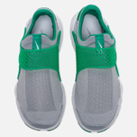 Мужские кроссовки Nike Sock Dart Knit Jaquard Wolf Grey/Wolf Grey/Satdium Green/White фото- 4