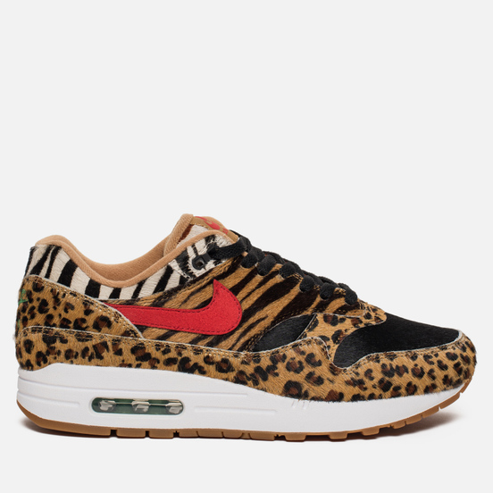 Кроссовки Nike x atmos Air Max 1 Deluxe Animal Pack 2.0 White/Sport Red/Bison Classic