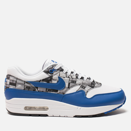 Кроссовки Nike x atmos Air Max 1 Print We Love Nike Pack White/Game Royal/Neutral Grey