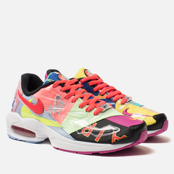 Кроссовки Nike x atmos Air Max 2 Light Black/Bright Crimson