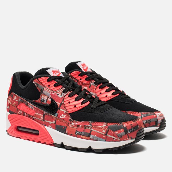 Кроссовки Nike x atmos Air Max 90 We Love Nike Pack Black/Bright Crimson/White
