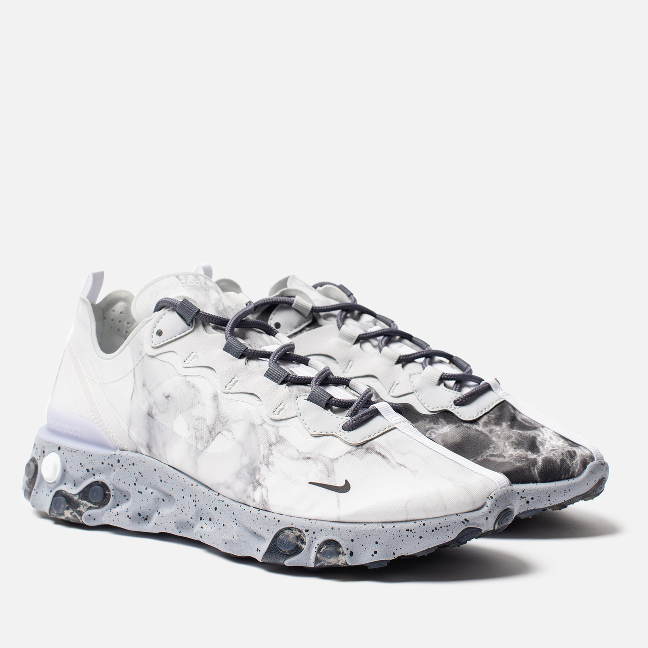 Кроссовки Nike x Kendrick Lamar React Element 55 Pure Platinum/Clear/Wolf Grey/Black
