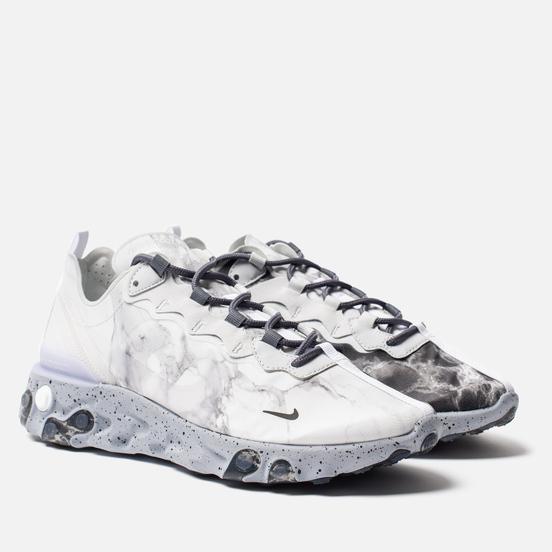 Мужские кроссовки Nike x Kendrick Lamar React Element 55 Pure Platinum/Clear/Wolf Grey/Black