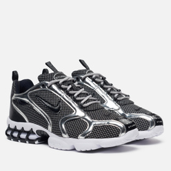 Мужские кроссовки Nike x Stussy Air Zoom Spiridon Cage 2 Pure Platinum/Black/White