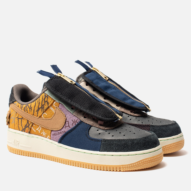 Кроссовки Nike x Travis Scott Air Force 1 Low Cactus Jack Multi-Color/Muted Bronze/Fossil