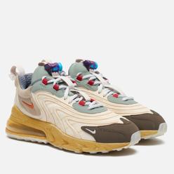 Мужские кроссовки Nike x Travis Scott Air Max 270 React ENG Cactus Trails Light Cream/Starfish/Dark Hazel