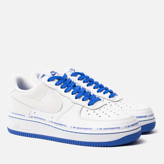 Кроссовки Nike x Uninterrupted Air Force 1 '07 MTAA QS White/Black/Racer Blue