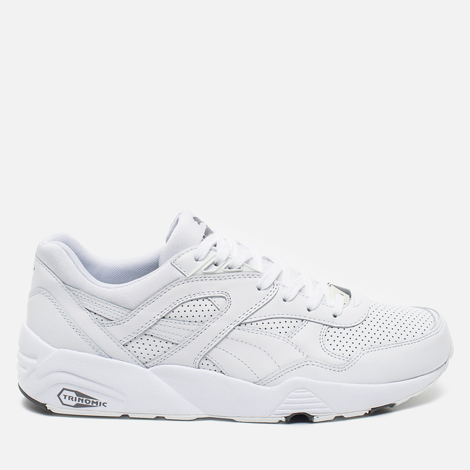 Кроссовки Puma R698 Core Leather White
