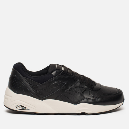 Кроссовки Puma R698 Perf Leather Black/Whisper White/Gold