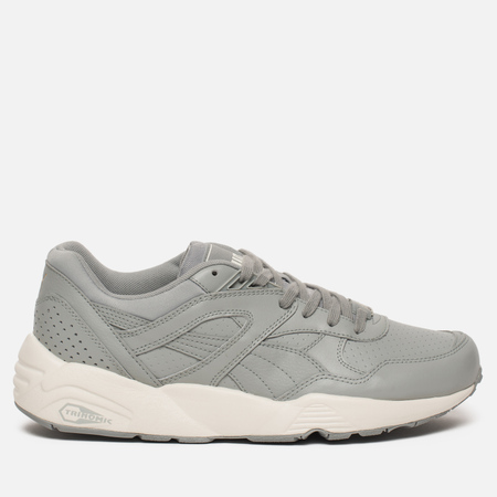 Кроссовки Puma R698 Perf Leather Quarry/Whisper White/Gold