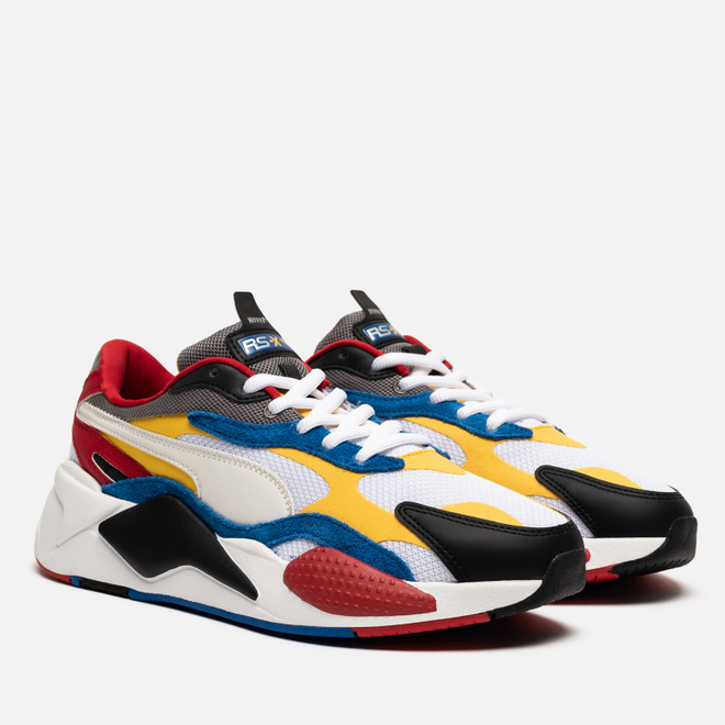 Мужские кроссовки Puma RS-X3 Puzzle White/Spectra Yellow