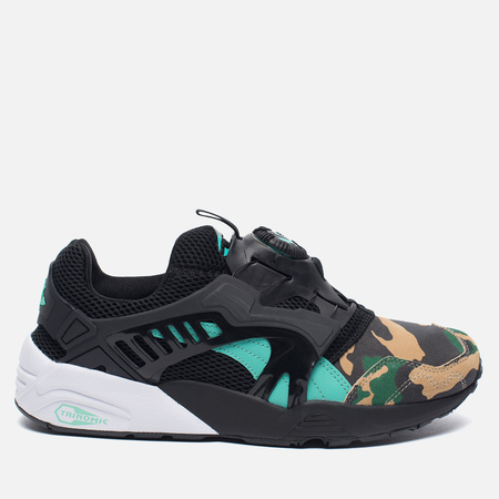 Мужские кроссовки Puma x atmos Disc Blaze Night Jungle Black/Electric Green