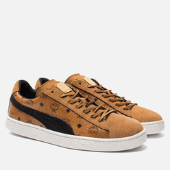 Кроссовки Puma x MCM Suede Classic Buckthorn Brown/Black/Whisper White