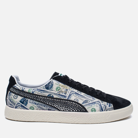 Кроссовки Puma x Mita Clyde $1000 Bill Motif Black