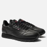 Кроссовки Reebok Classic Leather Black фото- 1