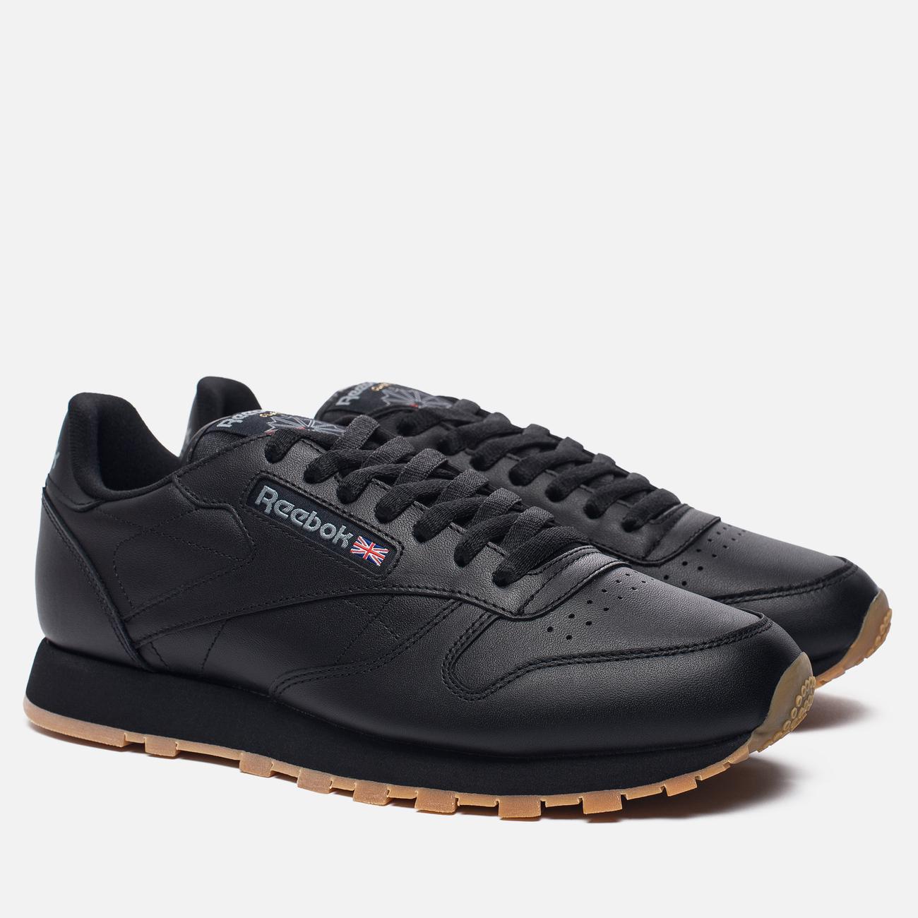 Кроссовки Reebok Classic Leather Black/Gum
