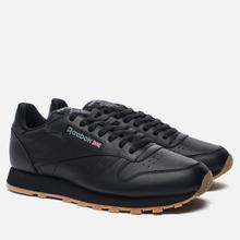 Кроссовки Reebok Classic Leather Black/Gum фото- 0